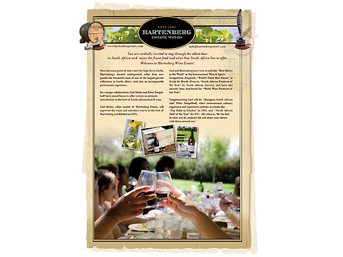 Brochures | Hartenberg Wine Estate
