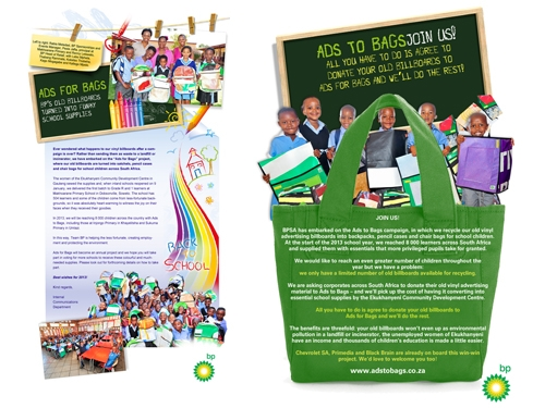 Corporate ID | BP Ads to Bags Campaign